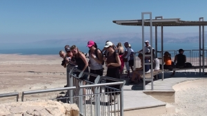 På toppen av Masada festning